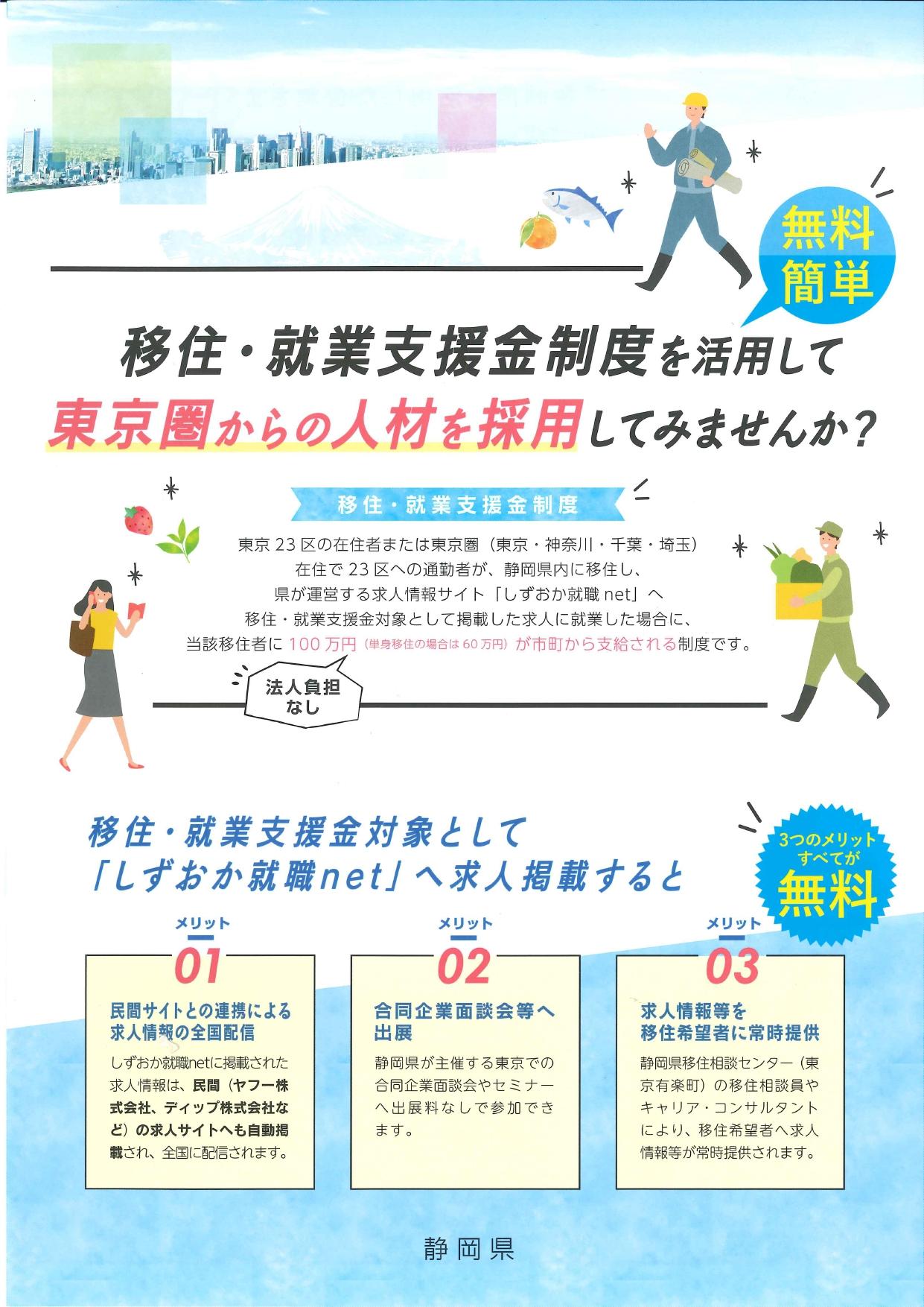 静岡県「移住・就業支援金制度」のパンフレットに掲載されました